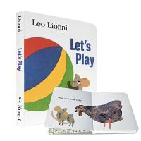 【中商原版】Let's Play 英文原版 一起玩吧 纸板书 四度凯迪克奖得主李欧李奥尼经典作品
