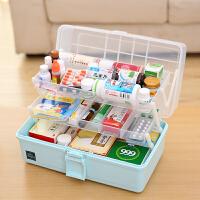 家用药箱医疗急救药品药物小收纳盒家庭 儿童医药箱美术工具箱五金工具箱化妆品收纳盒药箱
