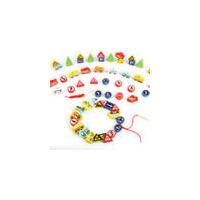 儿童串珠玩具 女孩男孩早教益智绕珠 1-3-6周岁宝宝幼儿 木质积木