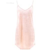 家居服性感睡衣露背公主情调细带美背V领吊带睡裙女 橘粉色