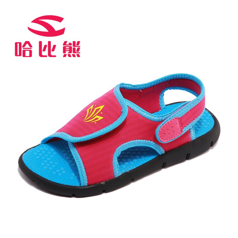 哈比熊童鞋男童凉鞋新款夏季女童凉鞋宝宝小孩儿童沙滩鞋