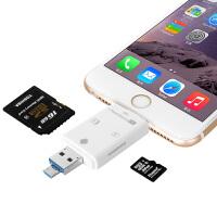 Gxi 苹果iPhone 6/6S 手机读卡器 iPhone 6S plus外接扩容器 ipad mini4/mini3/mini2/mini相机套件U盘伴侣 安卓手机苹果手机电脑通用U盘 三合一高速OTGU盘
