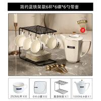 【家�b� 夏季狂�g】骨瓷��s咖啡杯套�b家用英式下午茶茶具�F代茶杯碟��收�{ ���