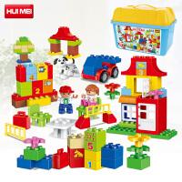惠美星斗城积木儿童拼装玩具拼插积木奇趣学习乐园 HM139