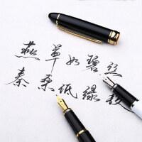毕加索双笔头钢笔学生用男女士商务办公练字墨水礼盒刻字套装720