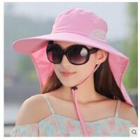 女超大帽檐 沿户外骑车遮阳帽 可折叠防 紫外线帽骑电动车防晒帽