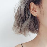 S925银耳钉女气质 个性简约百搭精致爱心桃心人造珍珠饰品