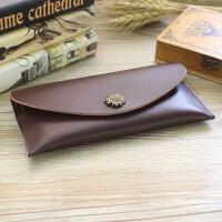 女式皮长款钱包男士钱夹时尚薄款信封包欧美手包手机包卡包