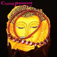 水晶密码CrystalPassWord 天然石榴石公主项链SJMM3-013