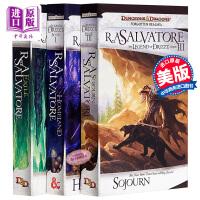 【中商原版】黑暗精灵三部曲 3本 故土 流亡 旅居 英文原版 Homeland Exile Sojourn The Legend of Drizzt Dark Elf Trilogy