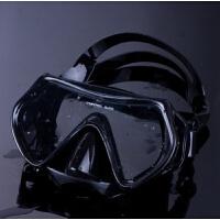 201808240527580042018新款游泳镜大框防水防雾泳镜潜水镜男女通用护鼻清晰游泳眼睛 黑色26 全黑面罩