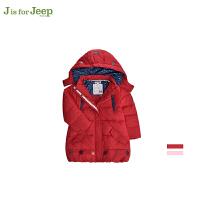 【2件5折到手价:119.5】JEEP/吉普童装 女小童羽绒服中小儿童纯色休闲外衣冬装新品