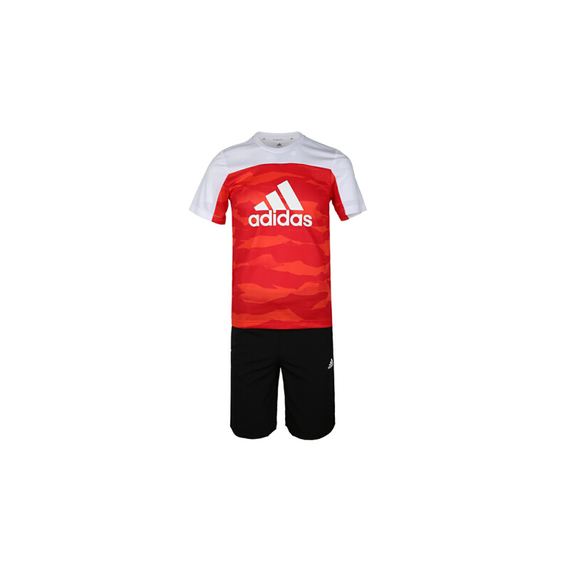 adidas阿迪达斯2019男大童YB TR SET TEE短袖套服DW5378 秋装尚新 潮品来袭 正品保证