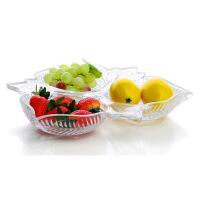 【家装节 夏季狂欢】北欧式水晶玻璃水果盘现代客厅创意家用茶几糖果盆沙拉零食篮摆件