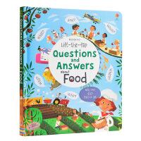 【中商原版】翻页问与答 食物 英文原版 Lift-the-Flap Questions and Answers Abo