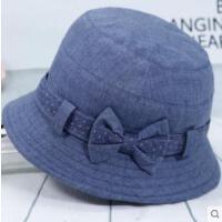 老年女士帽子优雅妈妈礼帽老人奶奶软布盆帽中老年人休闲时装帽