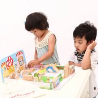 儿童彩虹幼儿园积木宝宝积木1-3岁益智3岁以下积木玩具 1-2周岁