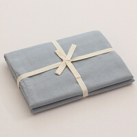 无印水洗棉良品床笠单件床垫套 纯色素色床单1.5m1.8米床定制 浅蓝色 浅蓝 240cmx270cm 床单