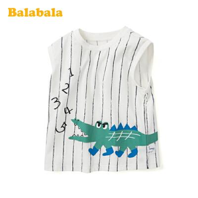 巴拉巴拉童装男童马甲儿童上衣宝宝背心2020夏装新款外穿纯棉坎肩 可爱鳄鱼,萌趣活泼