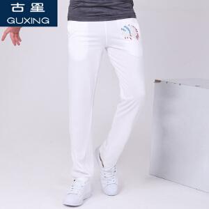 古星棉运动裤 男 长裤纯棉宽松大码男士运动卫裤子印第安人头