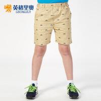 英格里奥夏装新款纯棉卡其色短裤休闲短裤LLB576