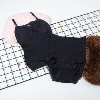产后妇收腹束腰提臀胖mm美体塑身内衣分体套装加强版两件套
