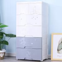 塑料五斗柜抽屉式收纳柜 宝宝衣柜塑料储物柜儿童婴儿柜