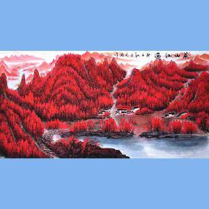 中国青年美术家协会常务理事,中国山水画院专业画家,国家一级美术师高云鹏(万山红遍)4