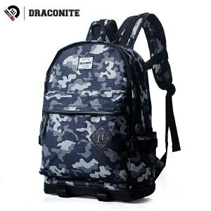 【支持礼品卡支付】DRACONITE欧美风潮牌迷彩双肩包男学生书包女迷彩背包旅行包11254