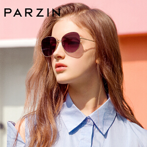 帕森2019新品太阳镜 女士金属大框加厚尼龙镜片潮墨镜驾驶镜 8223