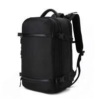 ?双肩包男士商务休闲多功能大容量旅行包17寸电脑包出差大背包男?
