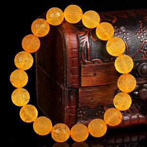 金珀回纹珠圆珠手串 直径10mm 重量10.56g