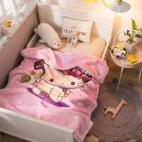 毛毯被子冬季加厚儿童午睡午休办公室婴儿宝宝幼儿园珊瑚绒小毯子