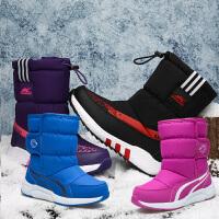 乖乖狗童鞋男童雪地棉靴冬季新款女童加厚保暖防滑儿童棉靴短靴子