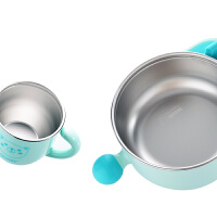 zolitt儿童餐具 婴儿注水保温碗宝宝防摔碗辅食碗吸盘碗叉勺套装