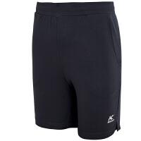 凯胜 KASON 运动短裤羽毛球短裤男款跑步透气羽毛球服比赛短裤 FAPN003-2 标准黑