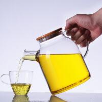 【当当自营】北斗正明大茶壶过滤泡茶壶玻璃加厚加热花茶壶耐高温竹盖壶茶具套装