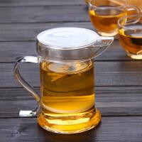 高硼硅耐热玻璃泡茶器 玻璃茶杯水杯 S把鹰嘴泡茶器三件式茶具功夫茶杯玻璃杯花茶杯茶杯水杯