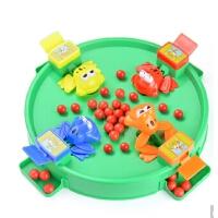 儿童益智玩具戏珠桌面游戏青蛙吃豆吃珠亲子多人互动启蒙幼儿*
