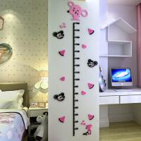 属相亚克力3d立体墙贴卡通十二生肖测量身高贴儿童房玄关量身高尺