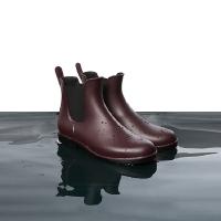 防水可外穿短款切尔西果冻雨鞋