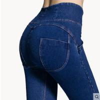 户外瑜伽裤高弹力美臀健身裤 高腰牛仔蜜桃裤显瘦提臀翘臀紧身运动裤女