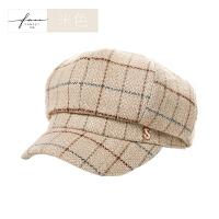 贝雷帽女秋冬天韩版时尚画家帽蓓蕾帽百搭可爱冬季八角帽
