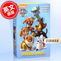 预售 汪汪队立大功 汪汪队的友谊 4册纸板书绘本故事套装 英文原版 Patrol Pals Paw Patrol Fr