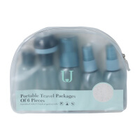 【家装节 夏季狂欢】旅行分装瓶套装便携爽肤水补水喷雾瓶乳液化妆品小喷壶小瓶子空瓶 蓝色9件套