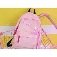双肩包女书包女韩版潮高中学生校园帆布背包