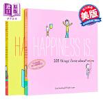 【中商原版】幸福是一家人系列 2册套装 英文原版 Happiness Is 200 Things I Love Abo