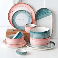 光一北欧碗碟套装网红陶瓷单个汤碗家用创意个性家用现代简约餐具高档