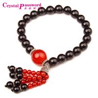 水晶密码CrystalPassWord 原创天然黑玛瑙流苏手链-JXYL1Q099