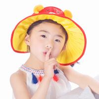 儿童帽子男童夏季女童宝宝防晒帽太阳帽夏折叠遮阳空顶帽大檐凉帽